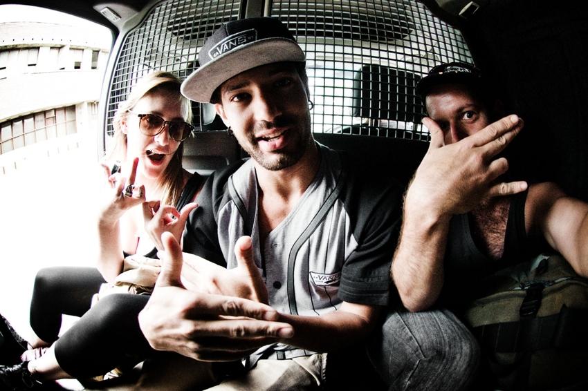 Sarah, Dean and Eric - Durban - Photo: Eric Palmer
