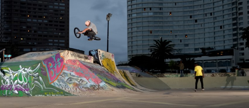 Heini - 270 flattie on that infamous hip at Beach Park, Durban.