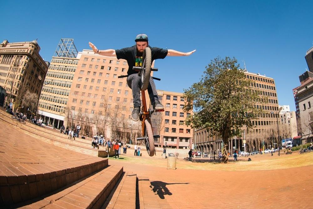 BMX Day 2015 Johannesburg -  Hann Jansen 180 tuck no hander - Library Gardens