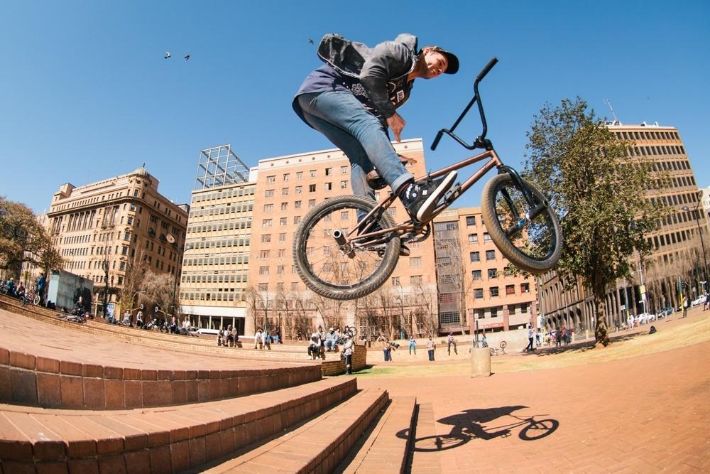 BMX Day 2015 Johannesburg - PE Shredder Matt Silo - Barspin - Library Gardens