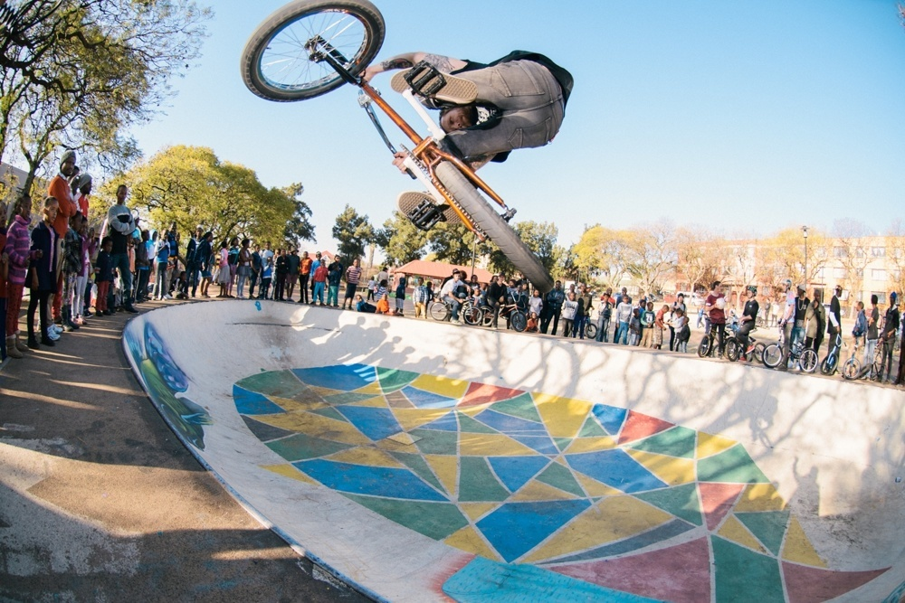 BMX Day 2015 Johannesburg -  Tim Dell - Downside Table - Troyeville Bowl