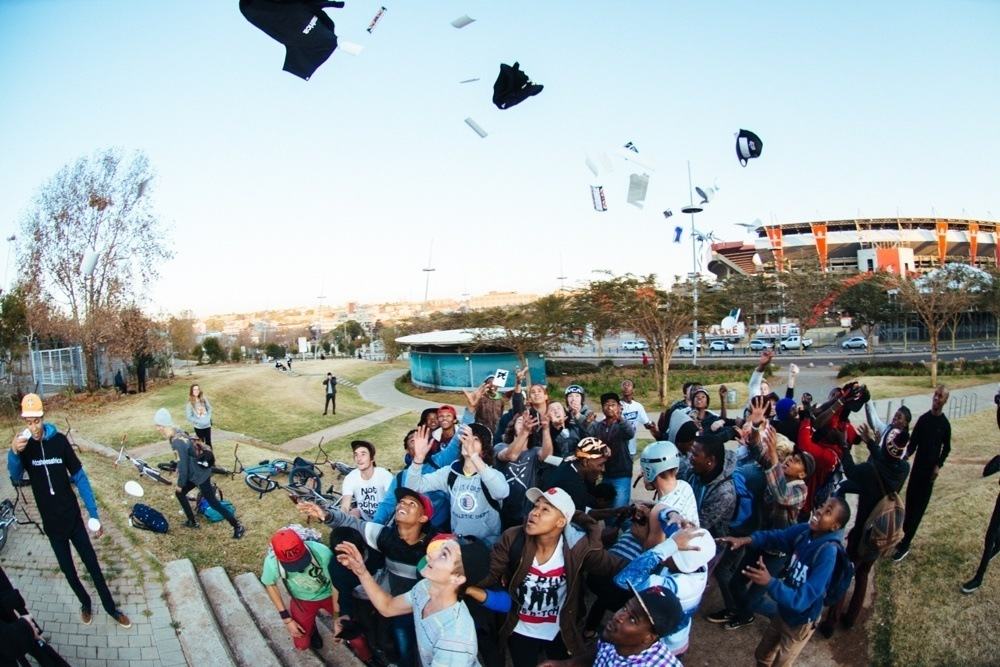 BMX Day 2015 Johannesburg - Who doesn't love a good product toss