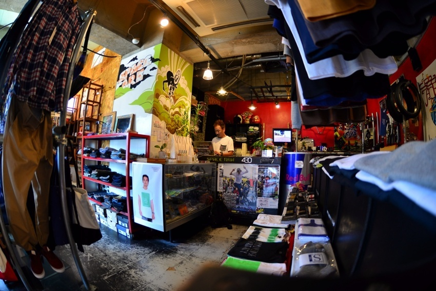 Spaceark shop in Kobe. Awesome place for flatland goods!