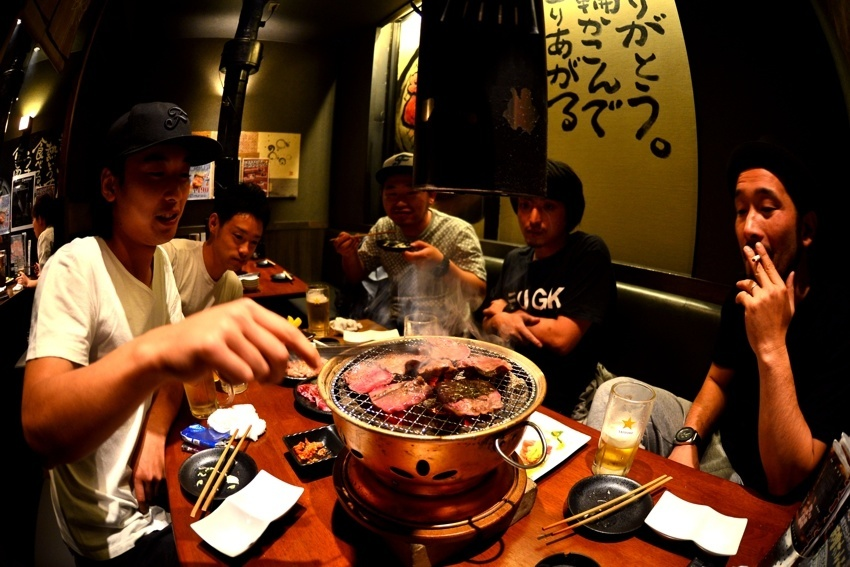 Korean BBQ with Kazuki, Koh, Churu, Takumi and Tamao
