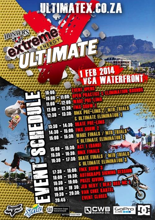 Ultimate X Schedule Design