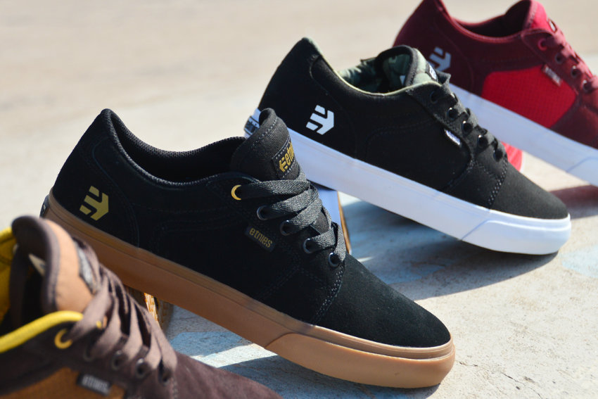 Etnies Barge Black/Gum    -    Etnies Barge Black/White