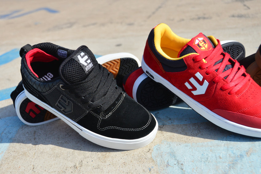 Etnies Marana Black/White    -    Etnies Marana Red/Navy