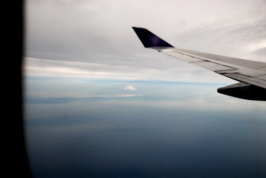 Mount Fuji! I was very lucky to snap this from my seat on the inbound flight to Tokyo.