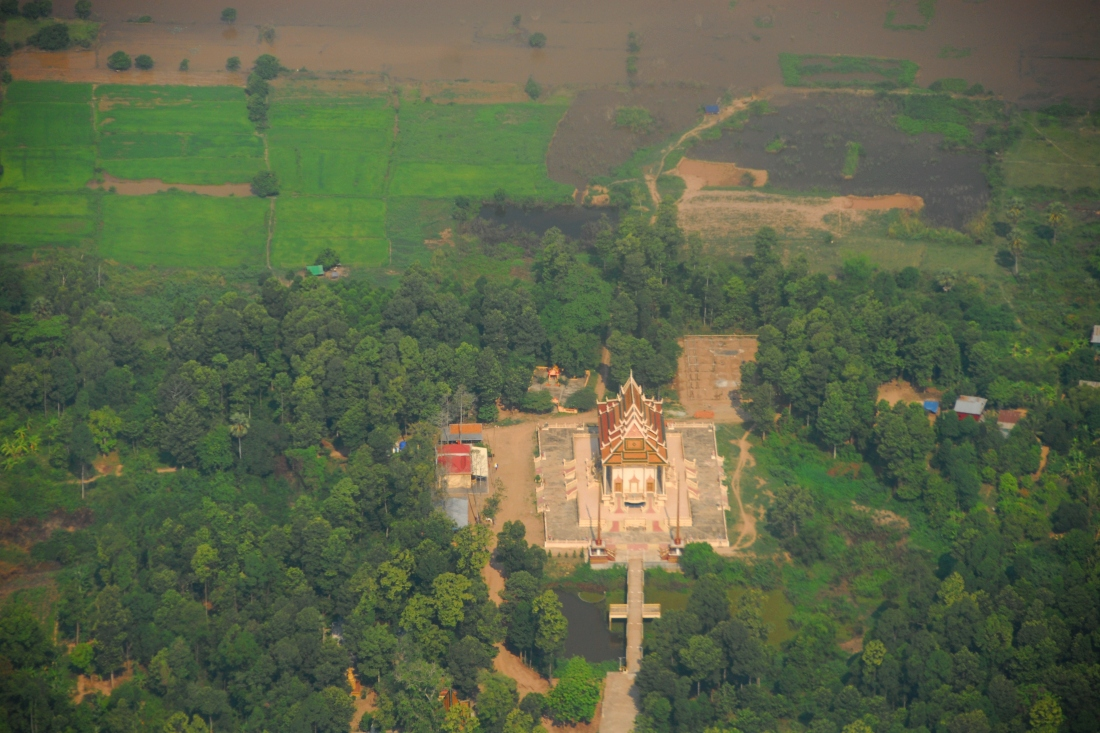 I captured this temple from the plane on the way into Phnom Penh, the Capital of Cambodia.
