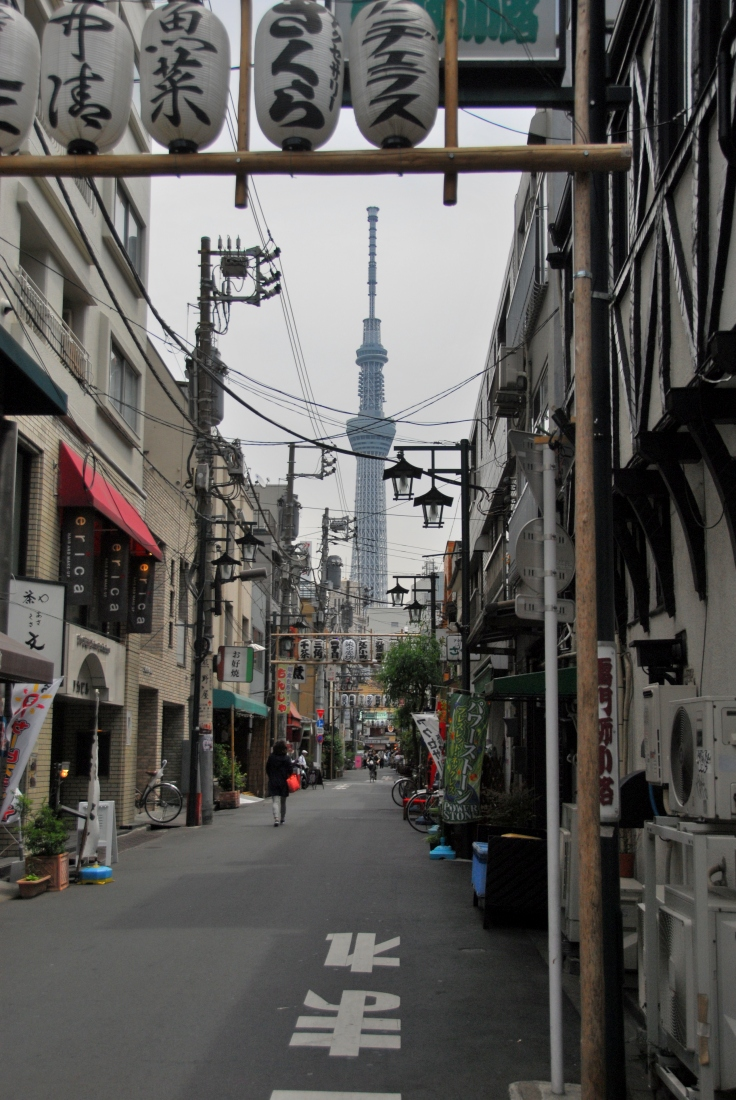 The Tokyo 'Skytree' in Sumida, near Asakusa. The tallest building in Japan and number 2 in the world.