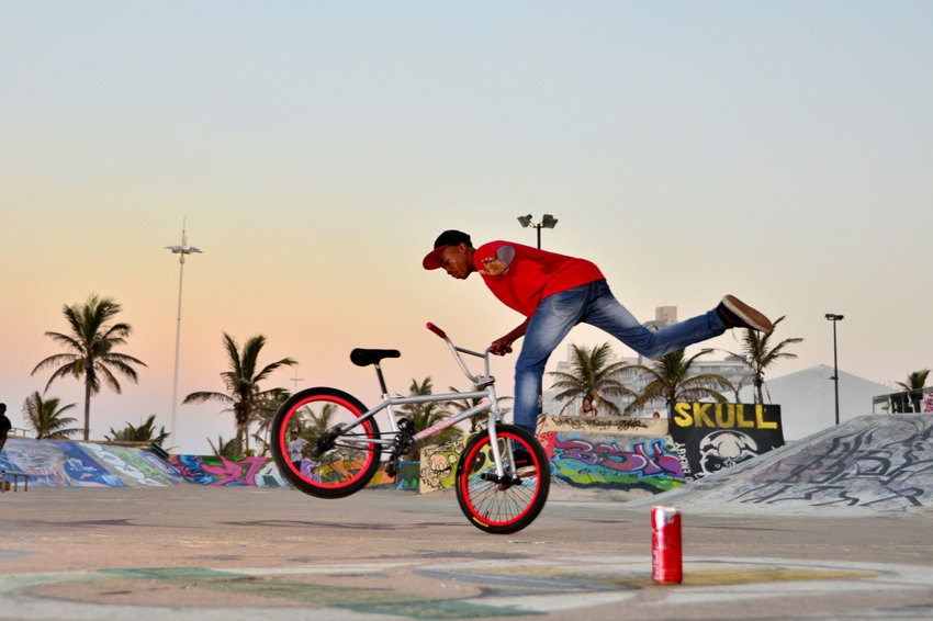 Skate Park, Durban, North Beach. BMX. Riding