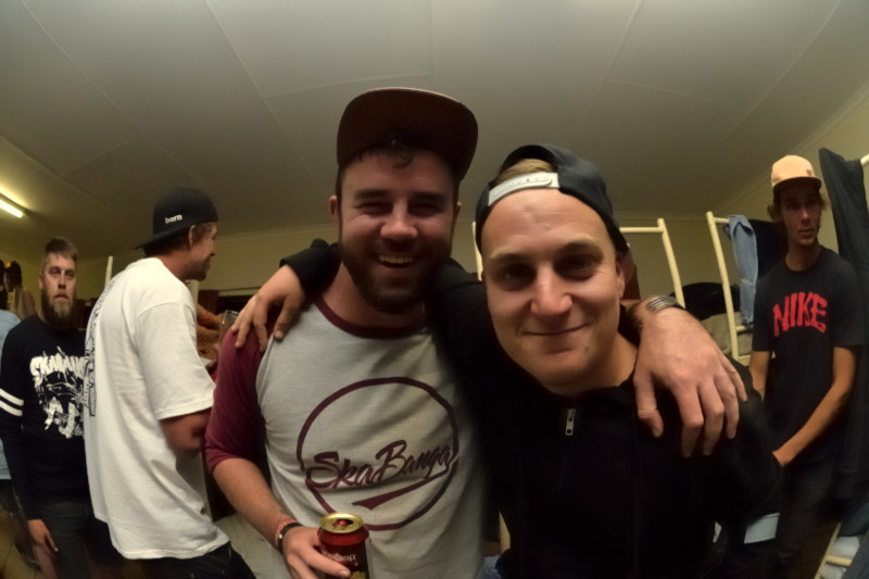 Hannes and TK. Buzzin on the vibe.