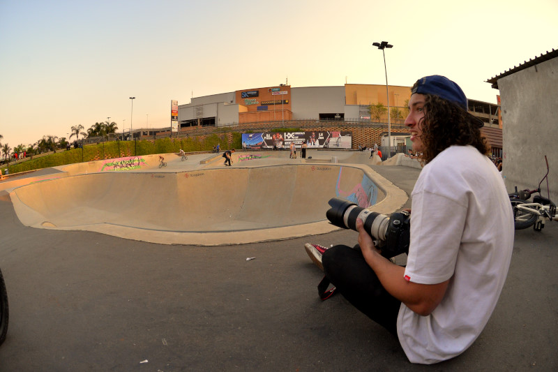 Brandon Blight with a watchful eye over the days events with a very big lens/