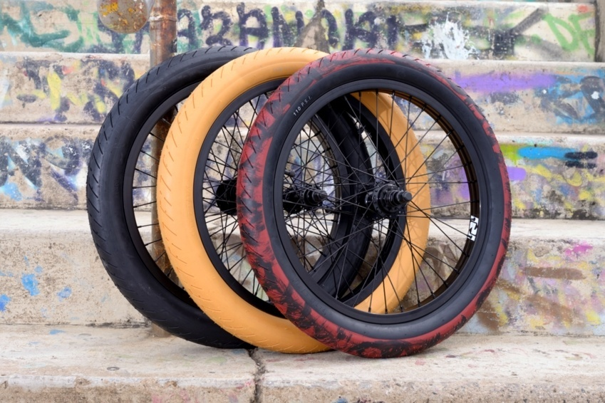 "Oh man, these have been flying out of here! The all new Fit TA tyre. Fast, Fat and Furiously colorful! 2.3"" and 2.4"" in all colours! If you planning on a pair of these, best do it fast!"