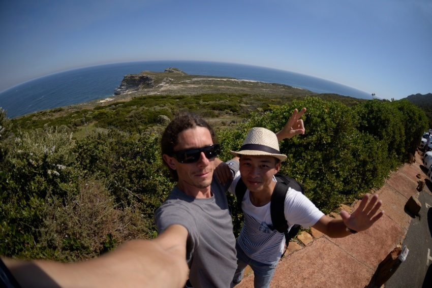 Me n Chen. Selfie time at Cape Point.