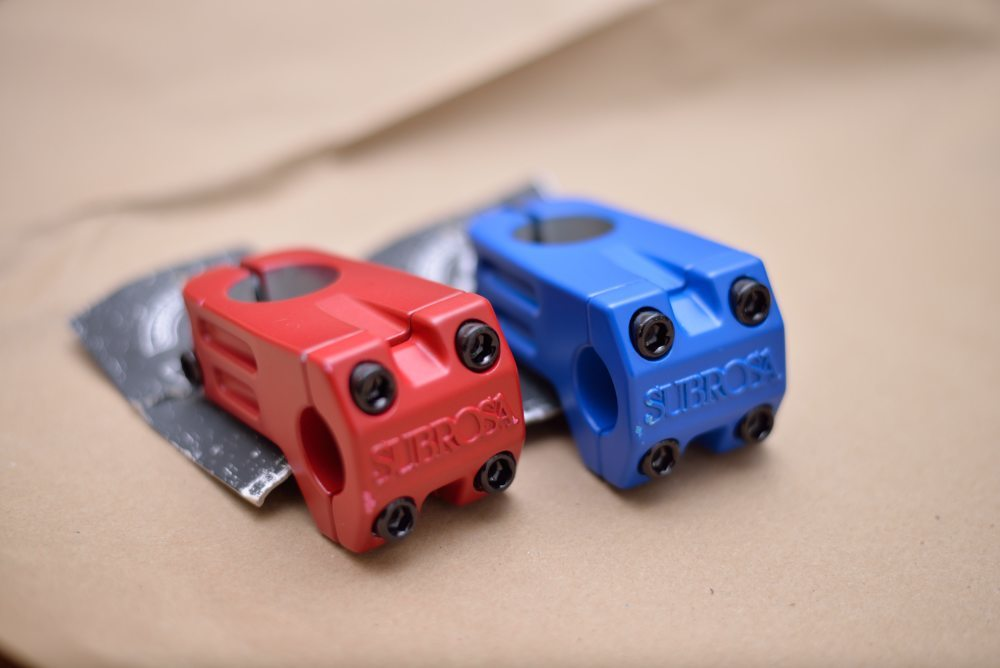 "Subrosa ""Hold Tight"" Stems. 50mm reach. Red or Blue. Front Load"