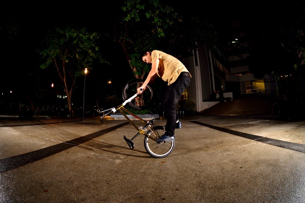 Art, one of the up and coming riders in Bangkok. This kid is funny!