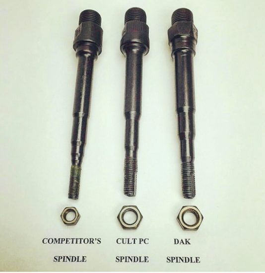 cult pedal spindles