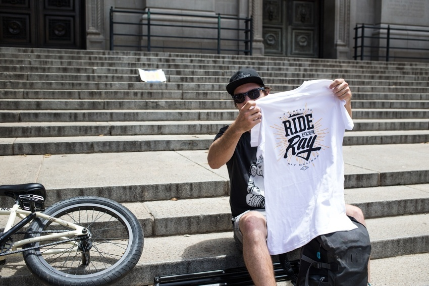 Ride for Ray - Tshirts all round