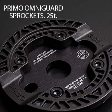 Primo Omniguard Sprocket – 25t Black