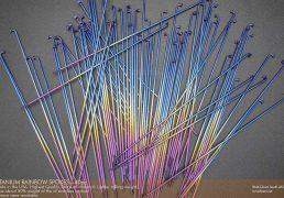 USA Made Rainbow Titanium Spokes - 40 pack