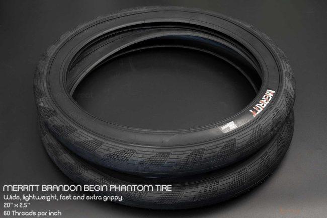 """Merritt Begin Phantom Tyre - Black 2.5"""""""
