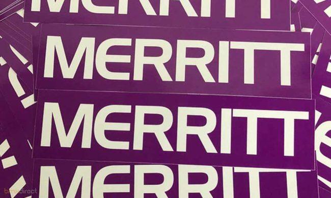 Merritt Frame Sticker - Purple